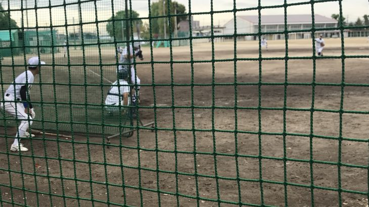 マスターズ甲子園大会出場の大府高校野球部OB会さんと練習試合。いくつになってもプレイするのは楽しいですね。