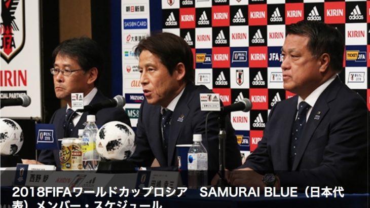 ワールドカップ代表メンバー決定!ビッグサプライズのない安定した選考が逆に心配。